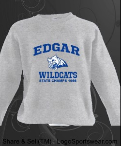 Edgar Wildcats Sweatshirt Design Zoom