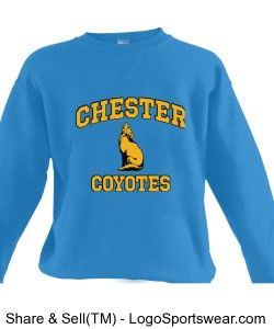 Chester Coyotes Sweatshirt Design Zoom